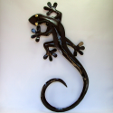 Décor mural salamandre métal 55cm
