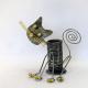 Pot crayon chat fil métal