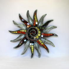 Décor mural soleil -réalisation artisanale en métal