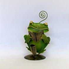 Porte crayon et photo grenouille livre métal