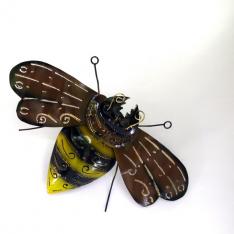Décor mural abeille métal