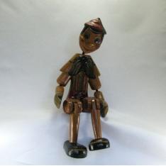 Pinocchio articulé bois 30cm env artisanat