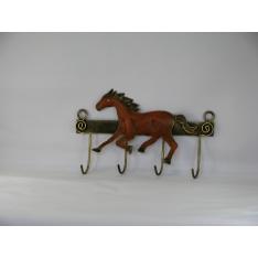 Porte clés cheval métal