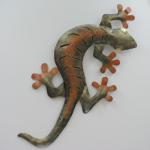 decor mural salamandre metal